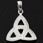 Celtic Knot Trinity 925 Sterling Silver Plain Pendant