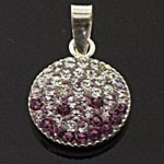 925 Sterling Silver Crystal  Pendant