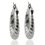 Open Celtic Circle 925 Sterling Silve  Hoop Earring