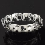 925 Sterling Silver Plain Elephant Design Oxidized Ring