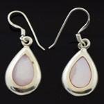 925 Sterling Silver  Enamel Tear Drop Design style Earring