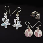 MIX Design and Mix Enamel 925 Sterling Silver Earring Lot