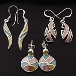 MIX Design and Mix Mother of Pearl 925 Sterling Silver Earring Lot