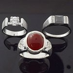 MIX Design and Mix Color Stone CZ 925 Sterling Silver Ring Lot