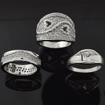 MIX Design and Mix Shape Single Stone CZ 925 Sterling Silver Ring Lot